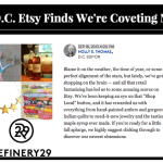 News: Refinery 29 Etsy Picks 2014