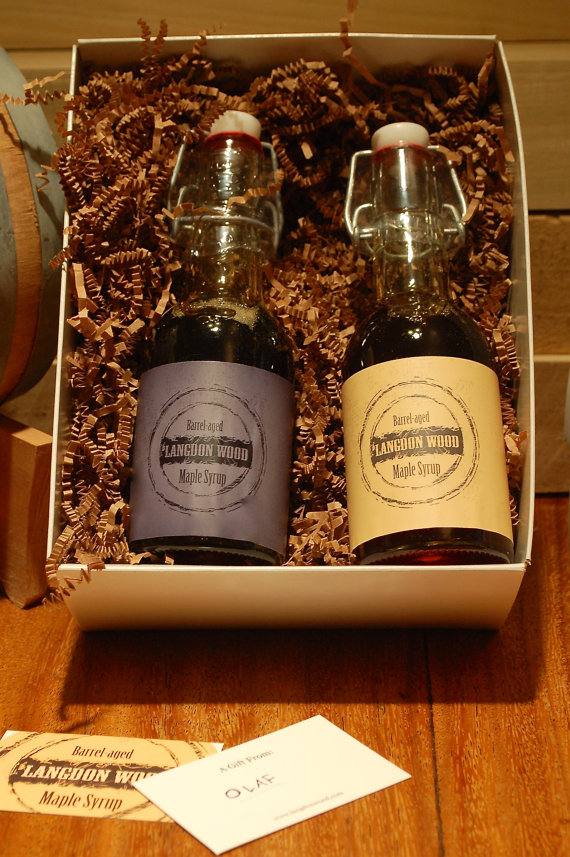 Langdon Wood Barrel Aged Maple Syrup Combo Packs!